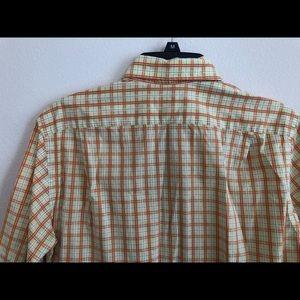 Lacoste Shirts - Lacoste shirt size 38 yellow orange short sleeve